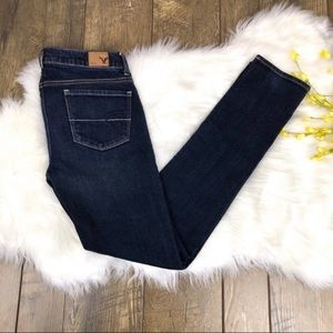 American Eagle Outfitters Jeans - American Eagle Skinny Jeans Size 0 Dark Wash